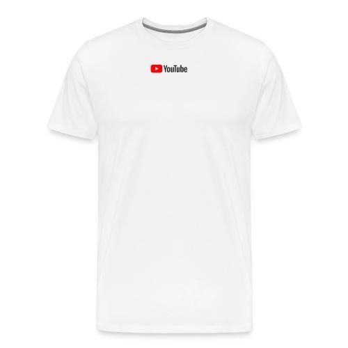 YouTube (White) - Men's Premium T-Shirt