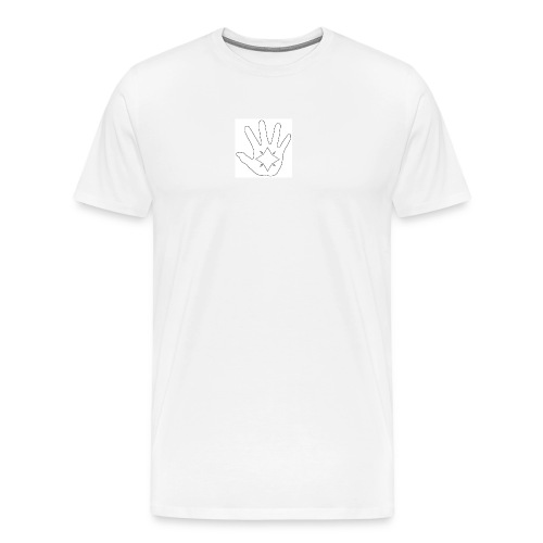 Hand and Star in Black and White - Men's Premium T-Shirt