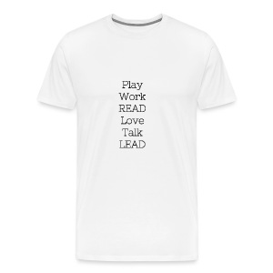 Play_Work_Read - Men's Premium T-Shirt