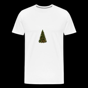 Large Christmas Tree with Red Ribbon - Men's Premium T-Shirt
