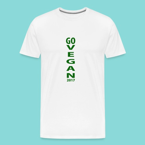 Go_Vegan_2017 - Men's Premium T-Shirt