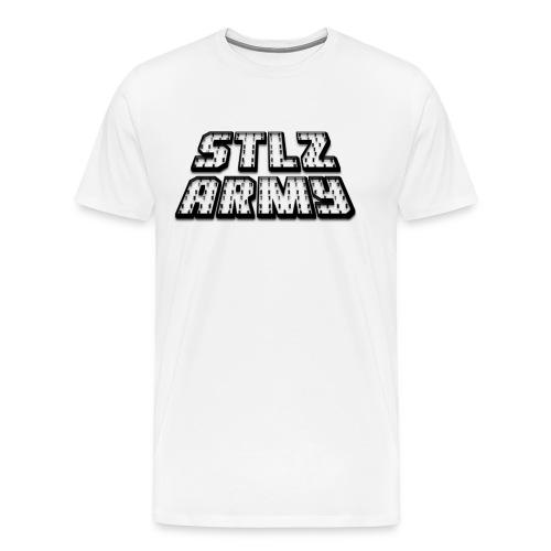 Stlz Army Logo (Black Edition) - Men's Premium T-Shirt