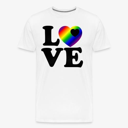 love gay pride - Men's Premium T-Shirt
