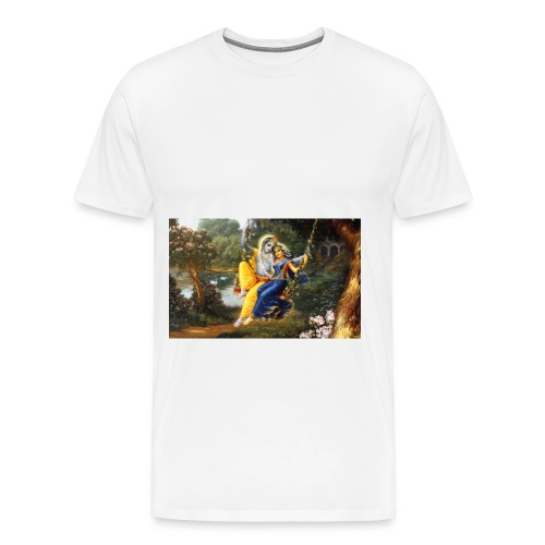 Radha Krishna Wallpaper 1440x900 - Men's Premium T-Shirt