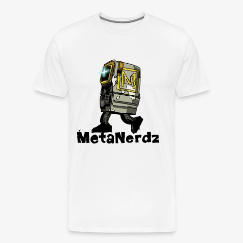 Gonk MetaNerdz Black Words - Men's Premium T-Shirt