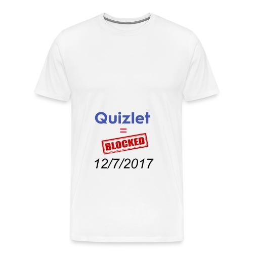 Quizlet Blocked - Men's Premium T-Shirt