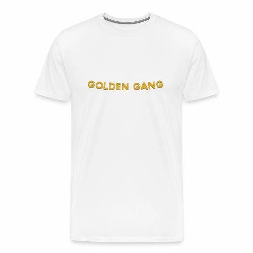 GoldenGang   Name Plate   - Men's Premium T-Shirt