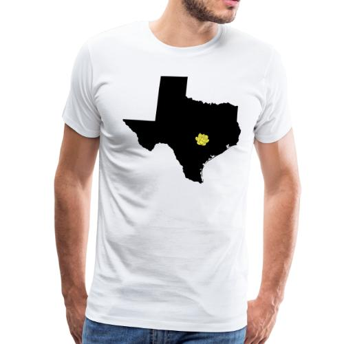 Texas and Yellow Rose on Austin Capital Vector - Men's Premium T-Shirt