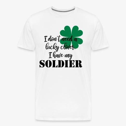 Lucky Clover Soldier - Men's Premium T-Shirt