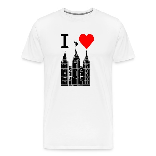 I (Heart) the Temple - Men's Premium T-Shirt