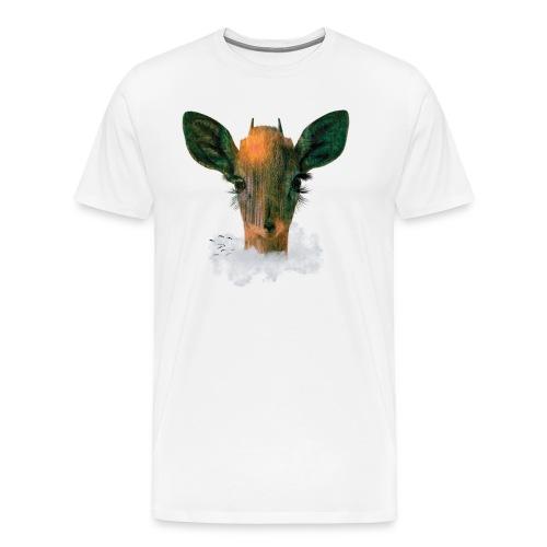 Deer in Forest Cloud - Men's Premium T-Shirt