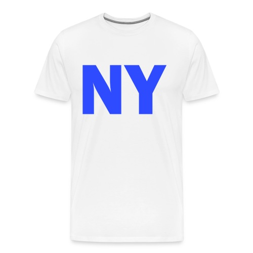 PLACE AND TIME - NY BLUE - Men's Premium T-Shirt
