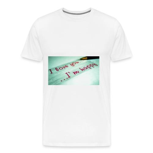 133197 I Love You Im Happy11 - Men's Premium T-Shirt