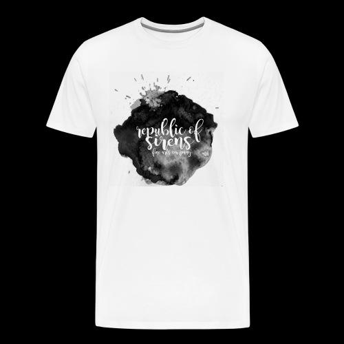 ROS FINE ARTS COMPANY - Black Aqua - Men's Premium T-Shirt