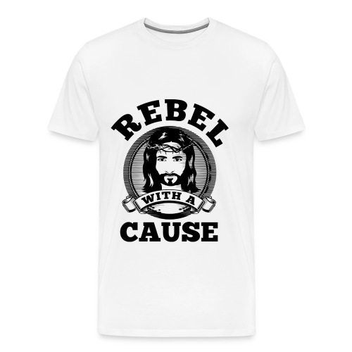 Rebel with a cause BLACK CLEAN SKIN print - Men's Premium T-Shirt