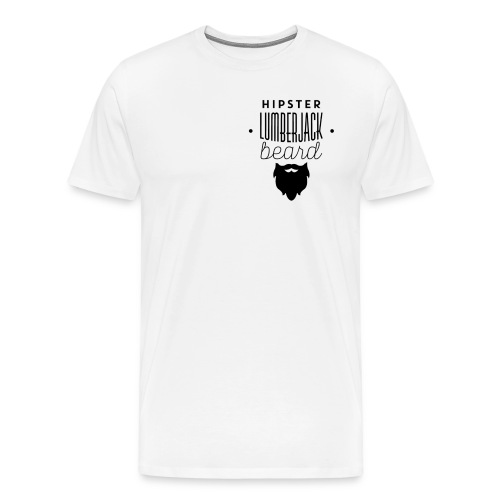 hipster lumberjack beard - Men's Premium T-Shirt