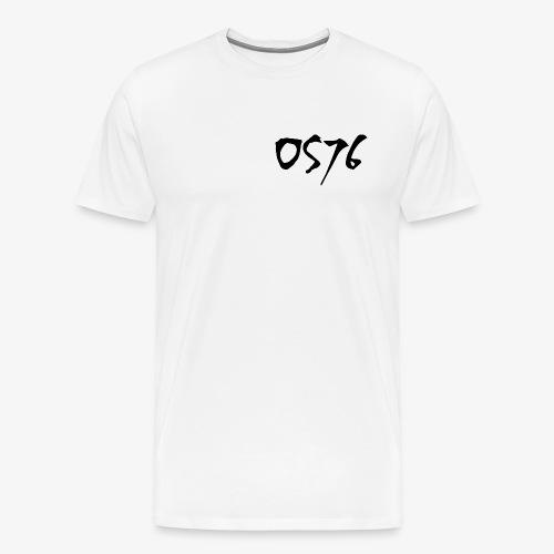 OS76 TYPE BLACK w OUTLINE - Men's Premium T-Shirt