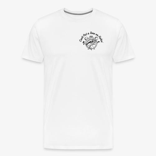 Black Logo -- Clock and Fish - Men's Premium T-Shirt