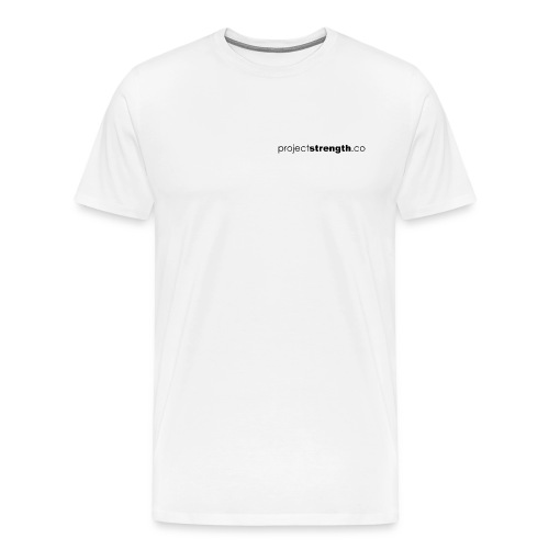 projectstrength.co - plain logo - black - Men's Premium T-Shirt