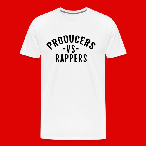 PRODUCERS -VS- RAPPERS (BLKWRDS) BY SHAWTYREDD - Men's Premium T-Shirt