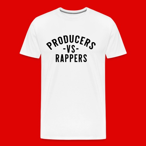 PRODUCERS -VS- RAPPERS (BLKWRDS) BY SHAWTYREDD - Men's Premium T-Shirt