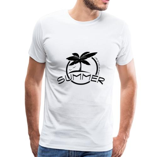 summer island with sun and palms - Men's Premium T-Shirt
