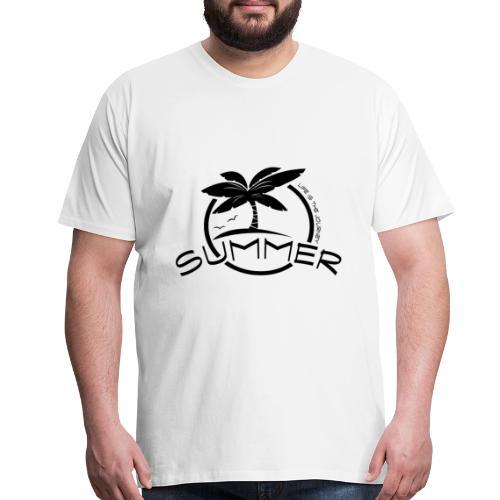 summer island with sun and palms - Men's Premium T-Shirt
