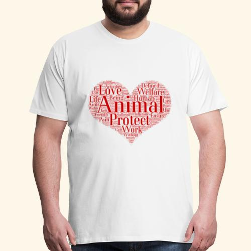 word cloud animal protect love - Men's Premium T-Shirt