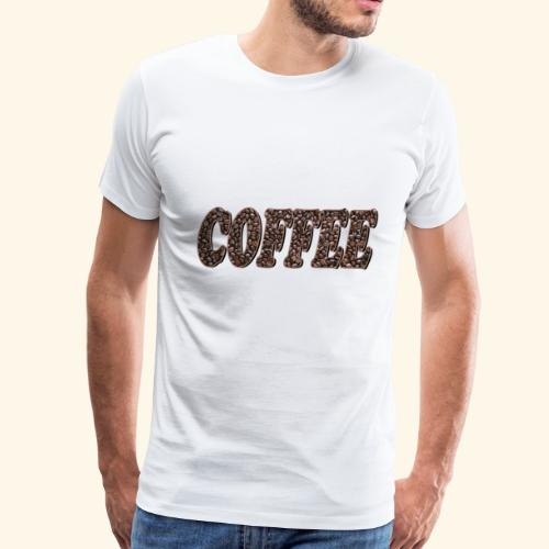 coffee word - Men's Premium T-Shirt