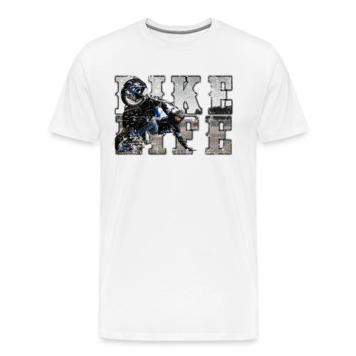 bike life phototext scratch desing - Men's Premium T-Shirt