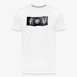 Abstract POV Worn Box Logo - Men's Premium T-Shirt