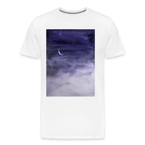 Clouds and Moon - Men's Premium T-Shirt