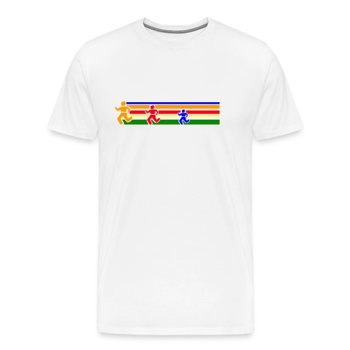 Runner Lines - Men's Premium T-Shirt
