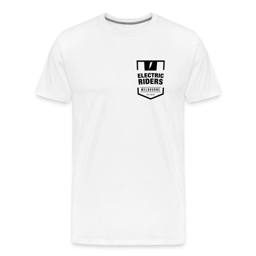 Electric Riders Melbourne - Logo Small Black - Men's Premium T-Shirt