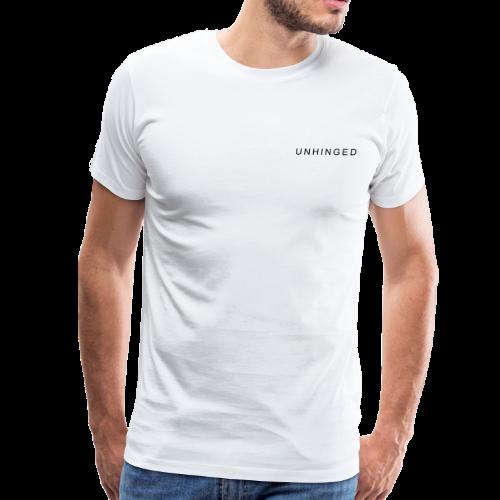 Unhinged Text Design BLACK - Men's Premium T-Shirt