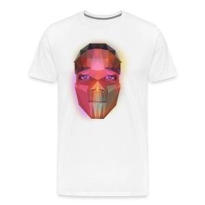 low poly face - Men's Premium T-Shirt