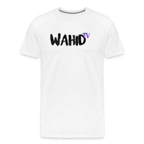 Black WahidTV Text Logo - Men's Premium T-Shirt