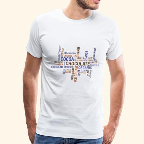 chocolate words cloud - Men's Premium T-Shirt