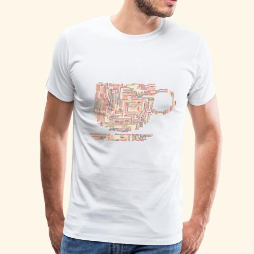 coffee cup words cloud - Men's Premium T-Shirt
