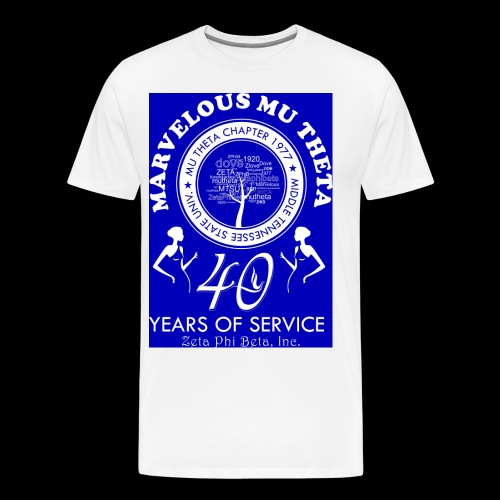 Mu Theta 40th anniversary celebration - Men's Premium T-Shirt