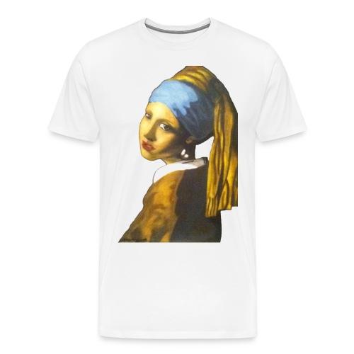 Girl with Pearl Earring - Men's Premium T-Shirt