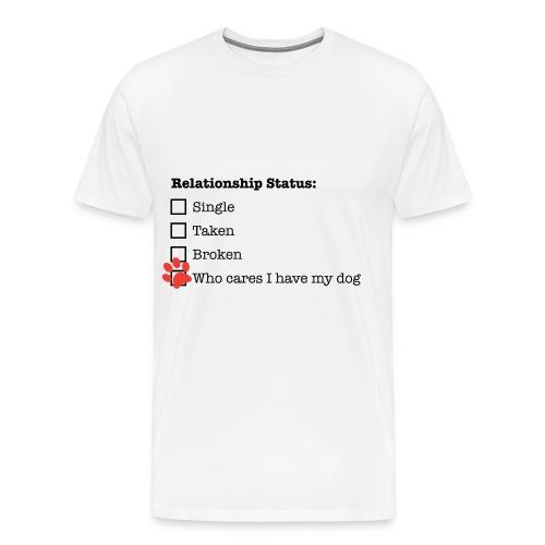 Relationship Status Dog Owner - Men's Premium T-Shirt