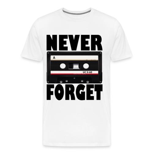 never forget cassette - Men's Premium T-Shirt