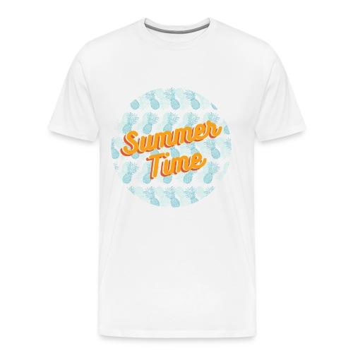 Summer time Pineapple - Men's Premium T-Shirt