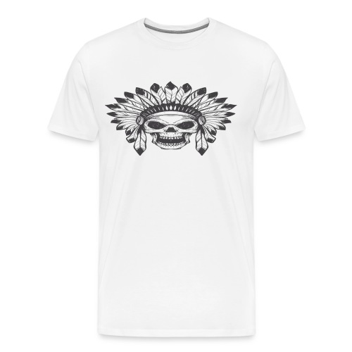 indian skull - Men's Premium T-Shirt
