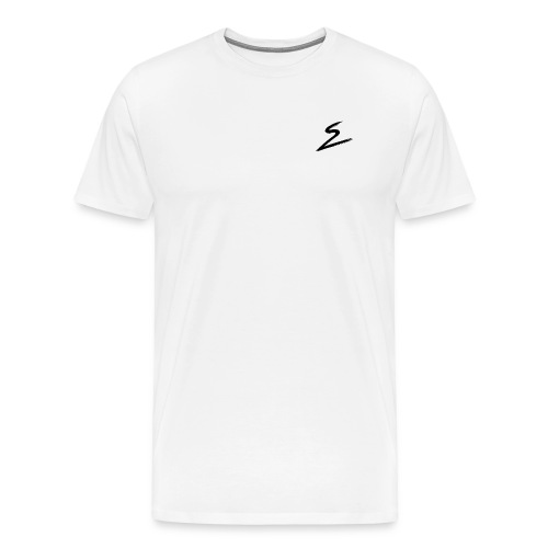 Swirv Signature Logo White - Men's Premium T-Shirt