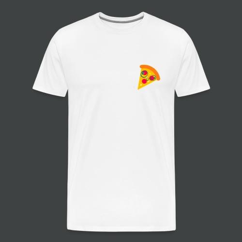 Cartoony Pizza Logo - Men's Premium T-Shirt