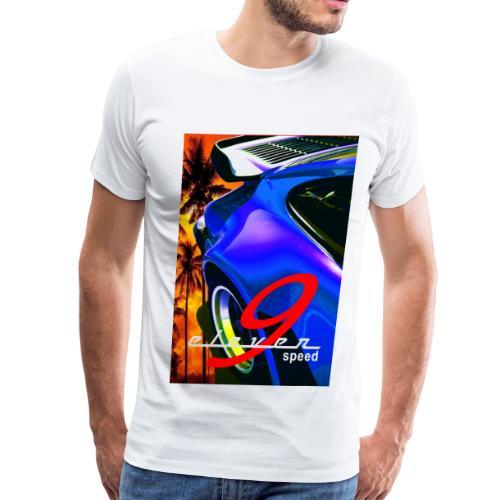 911 Car T-Shirt Whale Tail Sports Design Purple - Men's Premium T-Shirt
