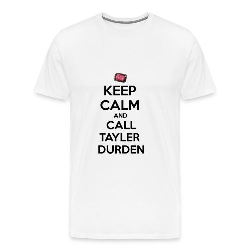 Keep calm and call Tyler Durden. - Men's Premium T-Shirt