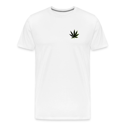 weed symbol drawing leaf - Men's Premium T-Shirt